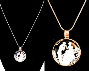 Cinderella Inspired Magnet Pendant Necklace