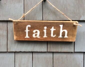 Faith rustic sign