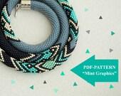 Bead crochet necklace pattern - bead crochet rope pattern - for bead crochet necklace