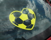 2 Soccer Decal Ballgame Truck Van Car Glass Window Heart DIY Gift Sports Boys Mens Gift Fan Sticker Bumper Stadium Jersey Helmet Goal Post