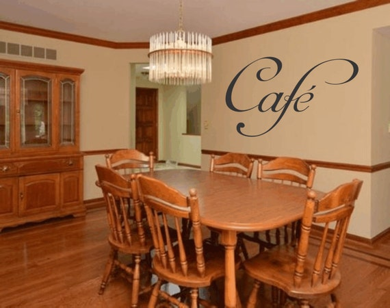 Word Cafe Home Decor Kitchen Dining Room Wall Art Sticker Bar