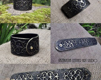 Ladies leather bracelet Kazakhsha Style