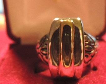 Sizzlin Summer Sale Vintage Premier Designs Silver Gold Plated Enamel Ring