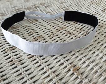 White Womens Headband - Girls adjustable Headband