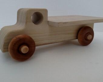 Handmade Wooden Flatbed Hay Truck