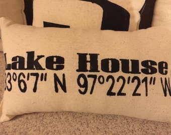 Longitude and Latitude Pillow