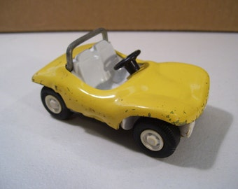 Vintage Tonka Yellow Dune Buggy Diecast Vehicle, 1970's Vintage Toy