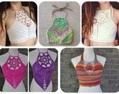 5 Crochet Pattern Pack - Crochet Crop Top Pattern Pack