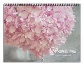 2016 Flower Photography Wall Calendar, 2016 Calendar, Flower Calendar