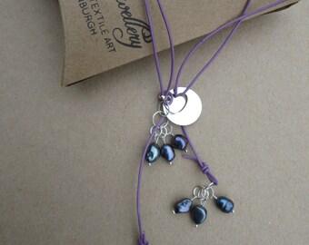 Pearl Lariat, Heart Pendant YNecklace, Freshwater Pearl Lariat, Pearl Pendant Necklace, Gemstones 2 Glamour Jewellery, K Brown Jewellery