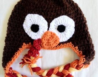 Gobble Gobble Turkey Ear Flap Hat