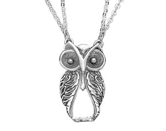 """Spoon Necklace: """"Owl"""" by Silver Spoon Jewelry"""