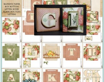 Cozy Autumn Give Thanks Letter Boxes