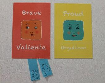 Brave & Proud, English/Spanish Magnets Set