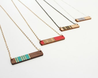 Lines Necklace   Geometric Necklace   Layering Necklace Bar Necklace   Laser Cut Necklace    Laser Cut Wood Necklace   Gifts under 50