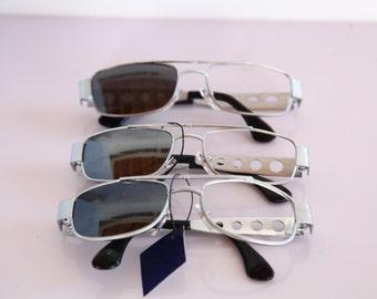 Vintage 90s Silver Frames, Frames Only. OPTICON'S. 3 Frames. Frames. Made in Greece