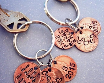 Home Sweet Home penny key ring