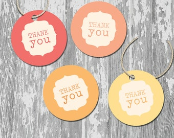 Ombre Printable Thank You Favor Tags Stickers Labels INSTANT DOWNLOAD You Are My Sunshine Collection