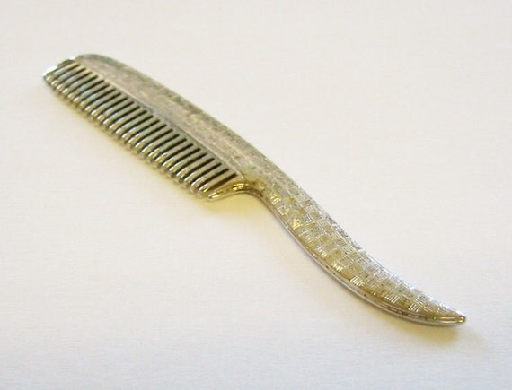 Men's... Vintage C1960's Sterling Silver Mustache/Beard Comb. by Simmons & Co.