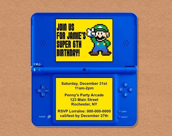 DIY Printable Video Game Birthday Party Invitation Video Game – Video Game Party Invitation