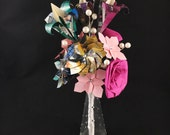 RESERVED for Amanda V. - Origami Comic Book Bouquet and Boutonniere