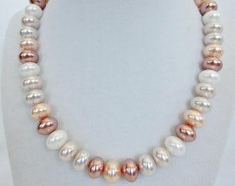 Multi Colored Pearl Necklace