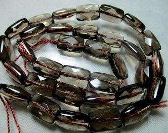 SALE   15.5'' Super fine flat faceted smokey quartz beads Afghanistan- R