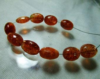 Stunning Top Grade  10 MM Smooth Polish Oval Sun Stone Focal Beads  SS0