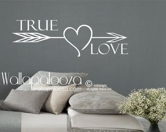 True Love Wall Decal - Master Bedroom Wall Decal - Love Wall Decal