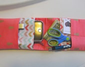 Coral Nurse Pocket Organizer, Pineapple Pocket Organizer