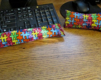 Autism Awareness Wrist Rest, Keyboard Wrist Supports