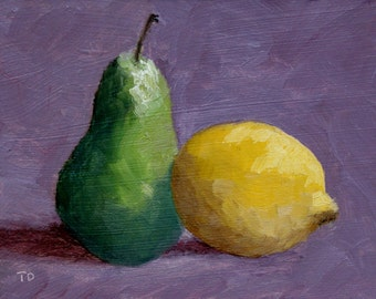 Pear and Lemon - Framed