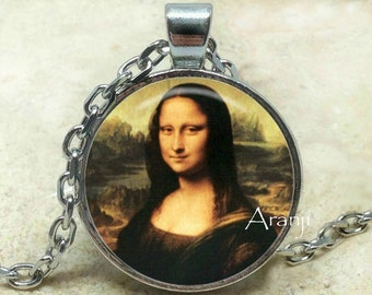 Mona Lisa necklace, Mona Lisa pendant, Leonardo da Vinci Pendant, da Vinci Pendant, da Vinci Necklace, Pendant #AR124P
