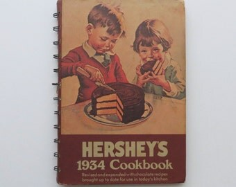 70s Hershey's Cookbook Chocolate Lover Dessert Recipes 1934 Revised Edition Children Family Baking