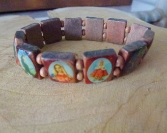 religious bracelet with pictures