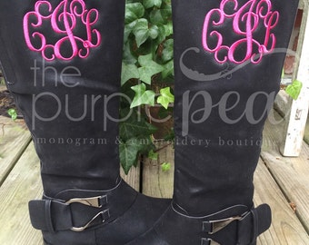 Monogrammed Ladies Boots, Monogrammed Boots
