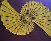 Yellow Spiral Lace Doily Cover Coaster Handmade crochet