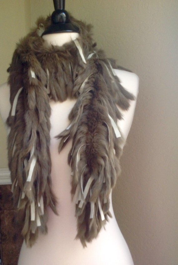 rabbit hair style 70s style rabbit fur scarf genuine fur boa in army green 4658