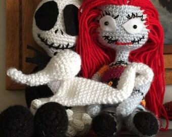 Jack and Sally Nightmare Before Christmas Doll Set Handmade