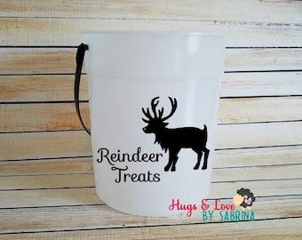 Reindeer Treats Bucket - Glow in the Dark - Christmas