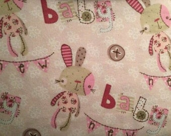 Flannel rabbit sewing needlecraft sewing etsy studio for Baby themed fabric