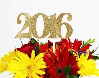 2016 Happy New Year's Eve Decoration / 2016 Happy New Year Centerpiece / Party Decoration / Cake Topper