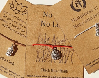 Buy5Free1~ Yoga Wish Bracelet, Yoga Friendship Bracelet, Zen Wish Bracelet, Zen Friendship Bracelet, Buddha Gifts, Lotus gifts, Buddha, Zen