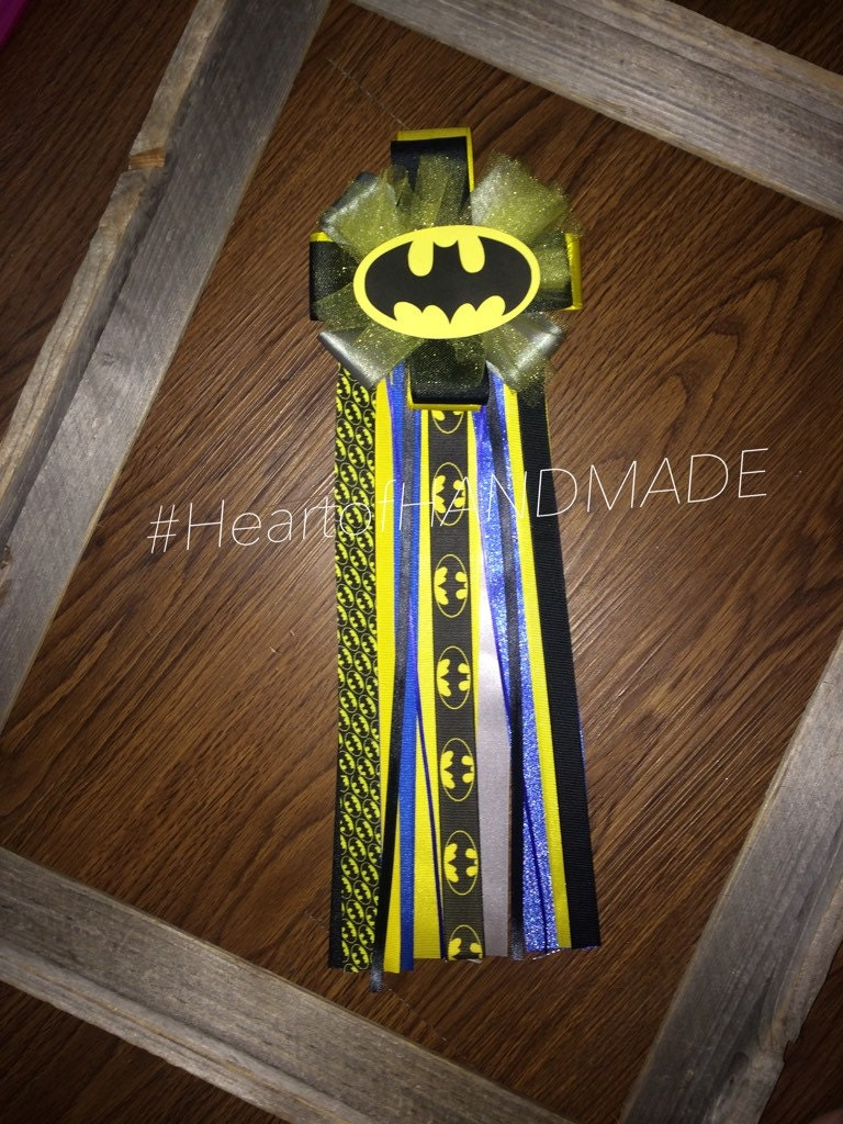 batman baby shower corsage by heartofanguiano on etsy