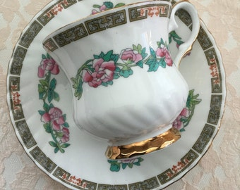 Elizabethan Cup and Saucer, Fine Bone China, England