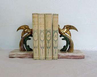 A 4 volume book bundle of Vintage French novels published by Nelson, book bundle