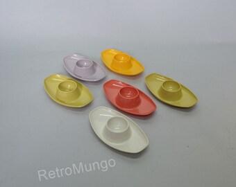 Set of 6 lovely 1960's egg cups bij Valon