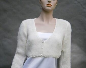 Kate -  ivory sweater a'la Kate Middleton  (Not only) Wedding bolero, sweater size - S/M, Ivory, 3/4 sleeves **Ready To Ship**