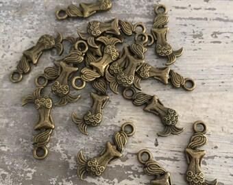 100 mermaid charms mermaid pendants charms beads beading supplies beaded jewelry bead bracelets charm bracelet
