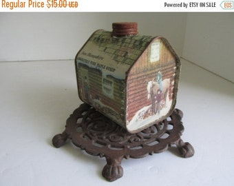 SALE Maple Syrup Tin  Container Vintage Advertising Tin Box Container New Hampshire Maple Syrup Tin Jug